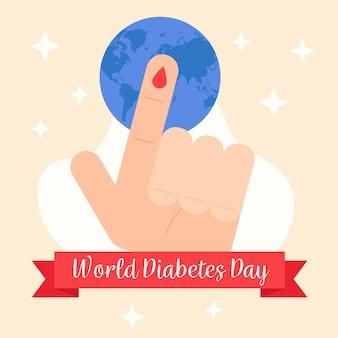 Weltdiabetestag im flachen design