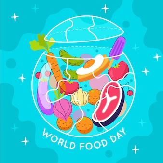Welternährungstag ereignisillustration