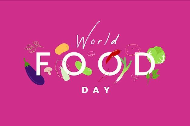 Welternährungstag-ereignisillustrationsdesign