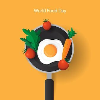 Welternährungstag hintergrund isoliert und kreativ