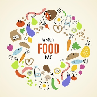 Welternährungstag-illustrationsstil