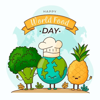 Welternährungstag-illustrationsthema