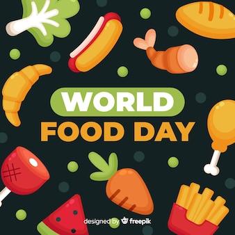Welternährungstag im flachen design