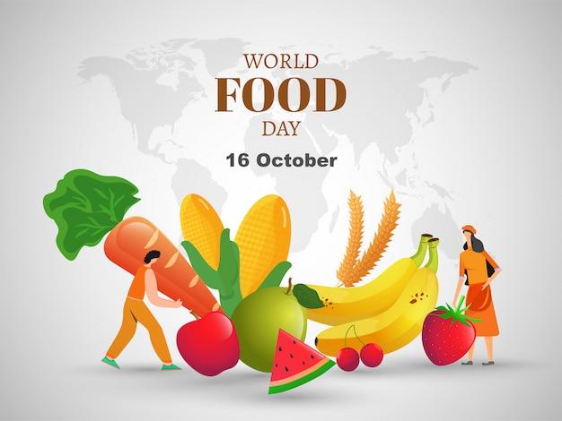 Welternährungstag konzept.