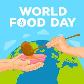 Welternährungstag konzept
