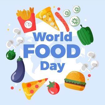 Welternährungstag nachricht mit illustrationen