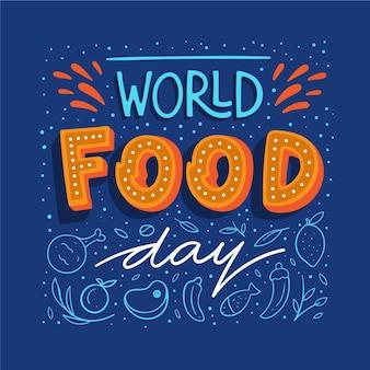 Welternährungstag schriftzug