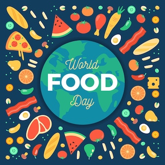 Welternährungstag veranstaltung illustriert