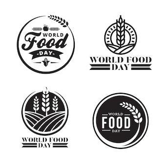 Weltessen tag logo abzeichen konzept