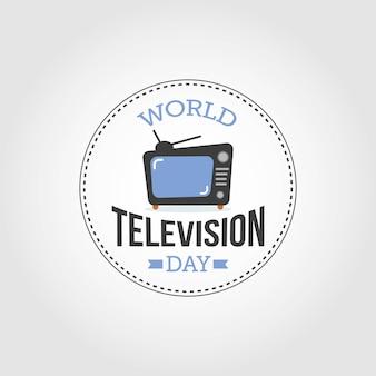 Weltfernsehtag Premium Vektoren