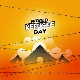 Weltflüchtlingstag design.