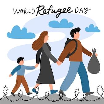 Weltflüchtlingstag ziehen