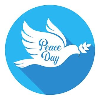 Weltfriedenstags-plakat-weißes tauben-vogel-symbol