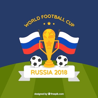 Weltfußballcuphintergrund mit Trophäe