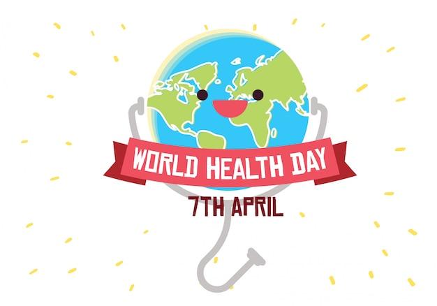 Weltgesundheitstag-begriffsabbildungsvektor