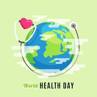 Weltgesundheitstag im flachen design