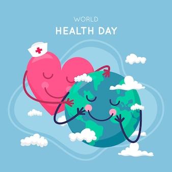 Weltgesundheitstag in flachem design