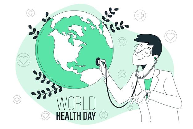Weltgesundheitstag konzeptillustration