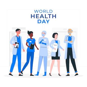 Weltgesundheitstag konzeptillustration Kostenlosen Vektoren