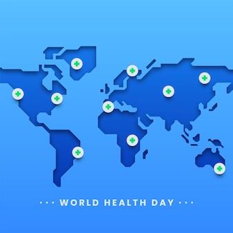Weltgesundheitstag-plakat Premium Vektoren