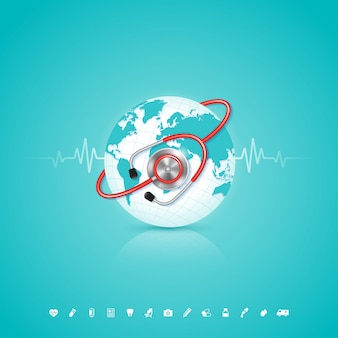 Weltgesundheitstagkonzept für gesundheitswesen und medizin