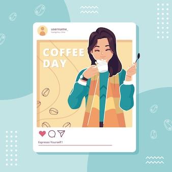 Weltkaffeetagillustrationshintergrund
