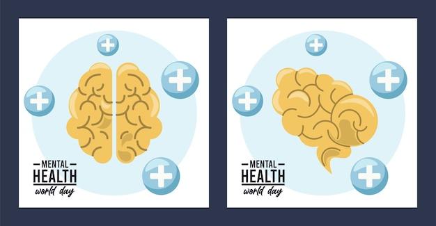 Weltkampagne zum tag der psychischen gesundheit mit verstand