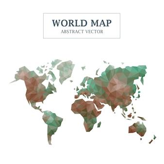Weltkarte abstraktes design