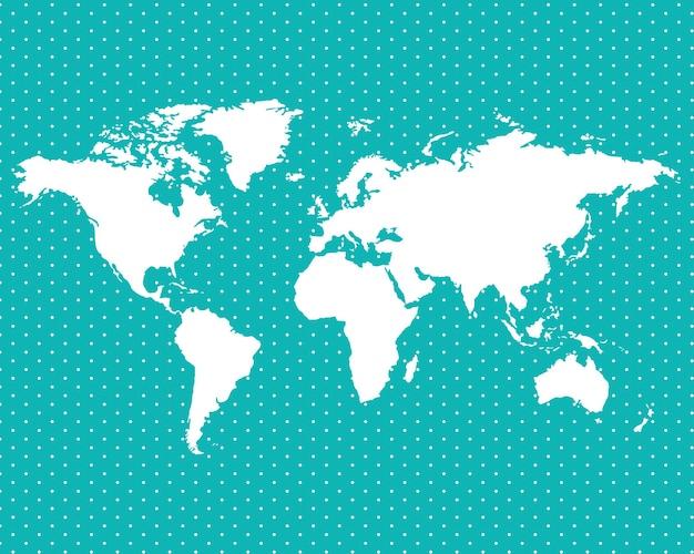 Weltkarte auf punkten Premium Vektoren