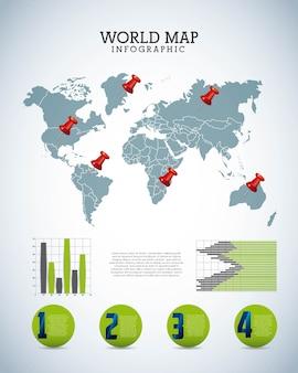 Weltkarte design