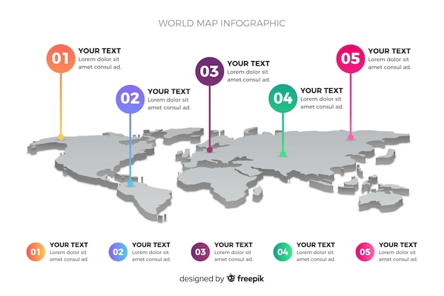 Weltkarte geschäft infografik