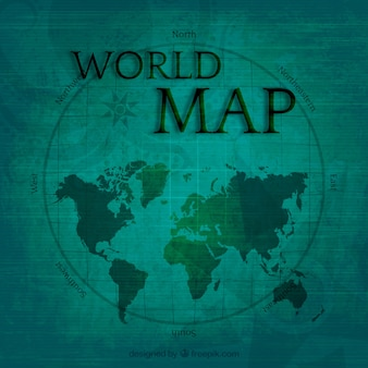 Weltkarte im vintage-stil