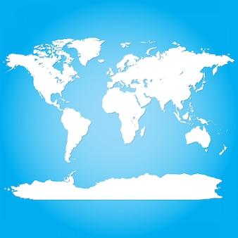 Weltkarte in blau