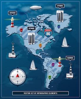 Weltkarte infografik-design
