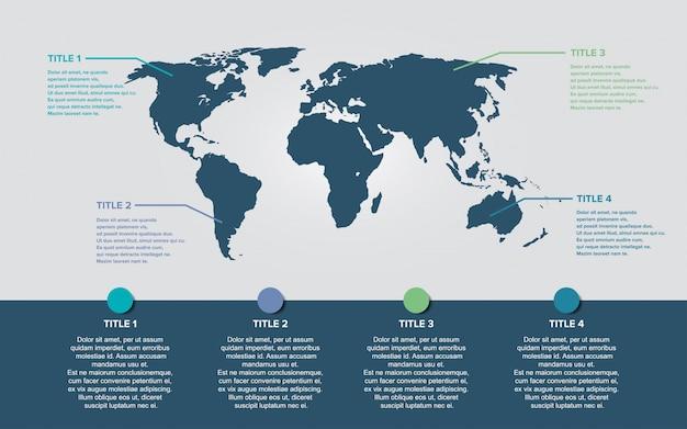 Weltkarte infografiken