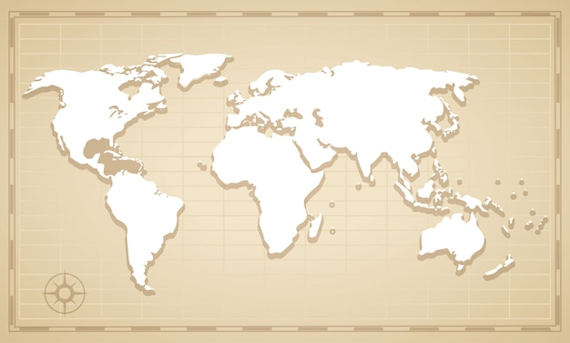 Weltkarte konzept
