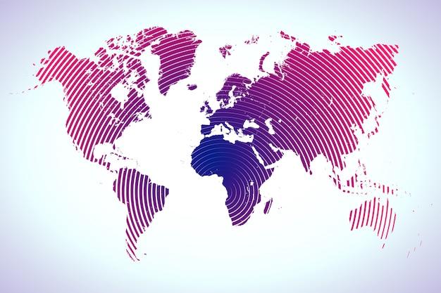 Weltkarte mit kreisen