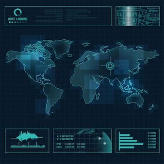 Weltkarte radar