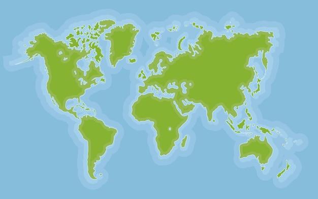Weltkarten-design
