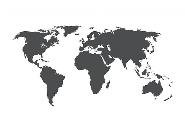 Weltkartenvektor