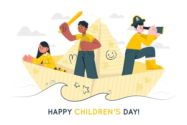 Weltkindentagskonzeptillustration