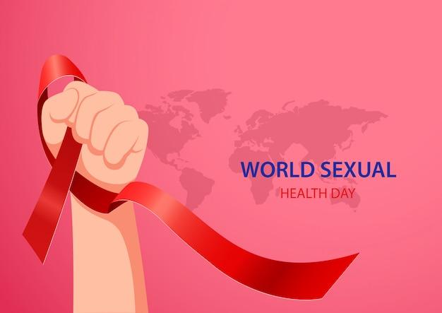 Weltkonzept des tages der sexuellen gesundheit. vektorillustration