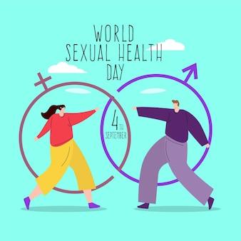 Weltkonzept des tages der sexuellen gesundheit