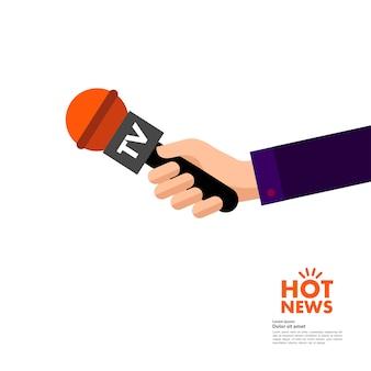Weltkonzept für heiße nachrichten.
