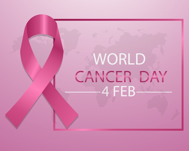 Weltkrebs-tageskonzept mit rosa band