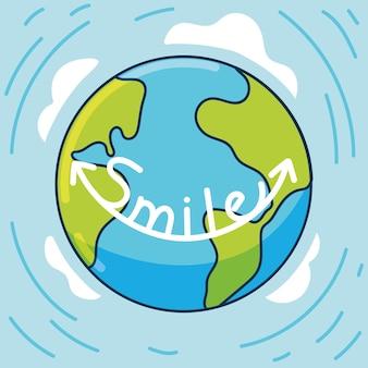 Weltlächeln-schriftzug