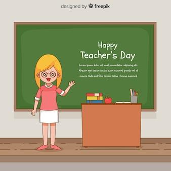 Weltlehrertag-zusammensetzung weiblicher lehrer