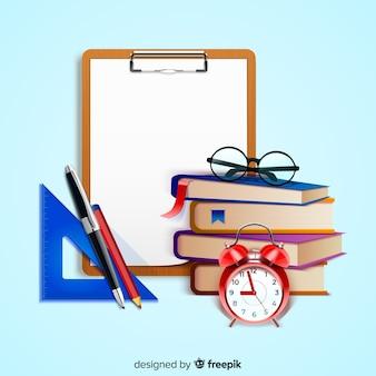 Weltlehrertageskonzept mit realistischem hintergrund