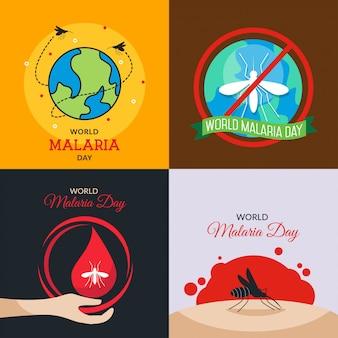 Weltmalaria-tagesillustration
