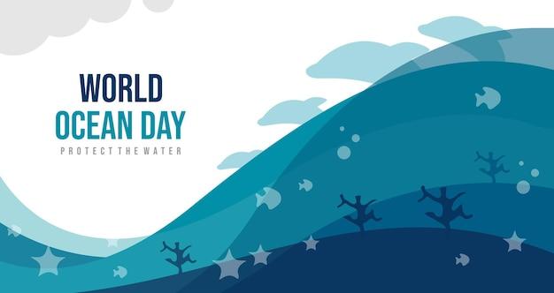 Weltmeertag, schütze das wasser